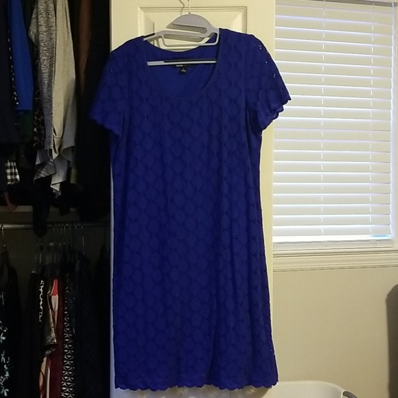 Ronni Nicole Blue Lace short dress